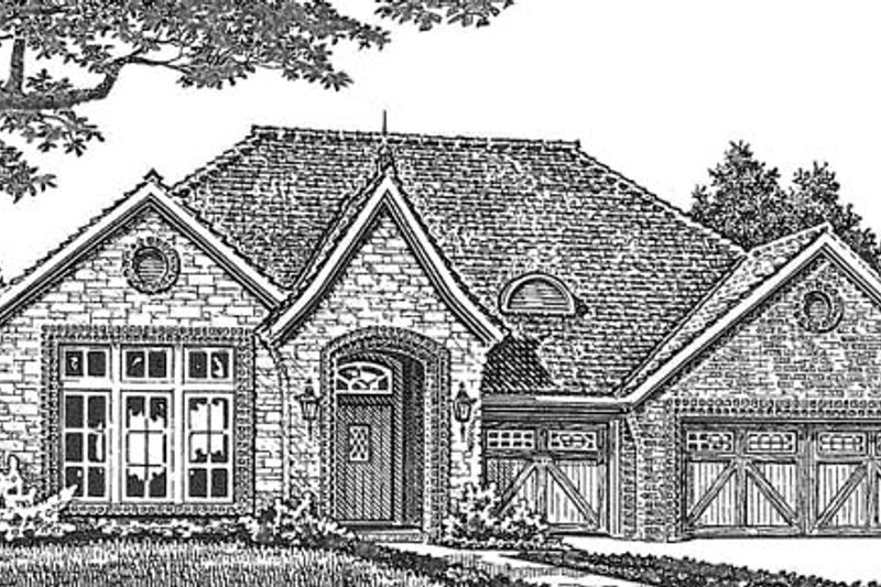 Home Plan - European Exterior - Front Elevation Plan #310-1261