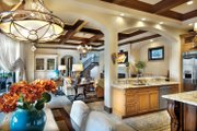 Mediterranean Style House Plan - 4 Beds 5 Baths 3777 Sq/Ft Plan #930-21 Interior - Kitchen