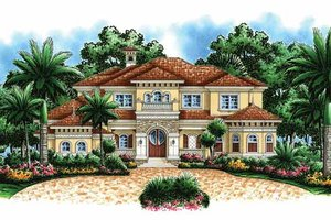 House Design - Mediterranean Exterior - Front Elevation Plan #1017-44
