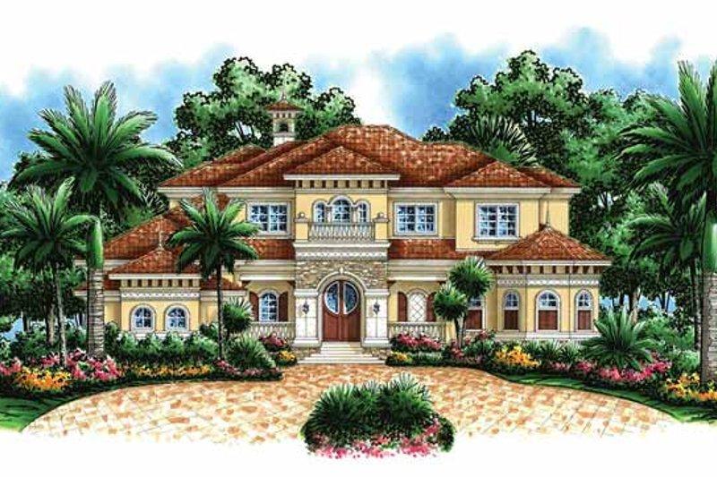 Dream House Plan - Mediterranean Exterior - Front Elevation Plan #1017-44