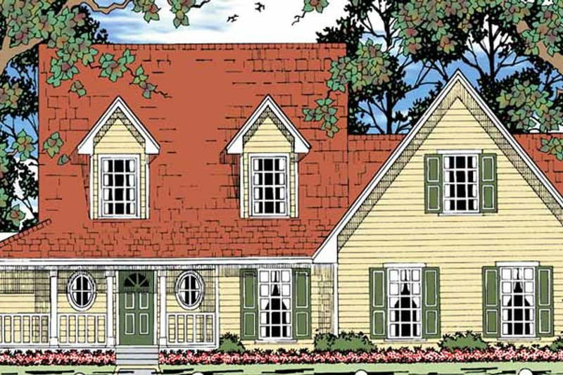 Country Exterior - Front Elevation Plan #42-712