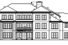 Architectural House Design - Mediterranean Exterior - Rear Elevation Plan #453-321