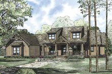 House Plan Design - Craftsman Exterior - Front Elevation Plan #17-3322