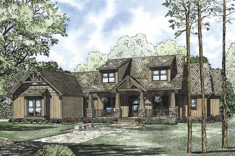 Craftsman Exterior - Front Elevation Plan #17-3322 - Houseplans.com