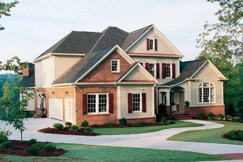 Home Plan - Colonial Exterior - Front Elevation Plan #429-312