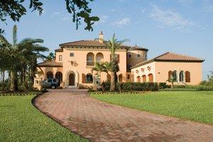 Architectural House Design - Mediterranean Exterior - Front Elevation Plan #1058-12