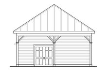 Cottage Exterior - Rear Elevation Plan #124-998