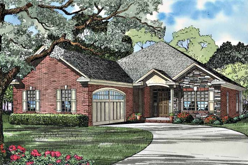 Country Exterior - Front Elevation Plan #17-3032 - Houseplans.com