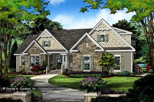 Ranch Exterior - Front Elevation Plan #929-1048
