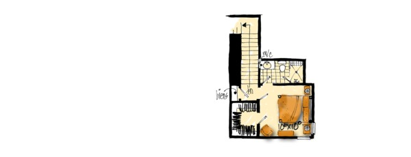 House Plan Design - Cottage Floor Plan - Upper Floor Plan #942-39