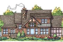 Architectural House Design - Craftsman Exterior - Rear Elevation Plan #929-933