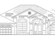 Mediterranean Style House Plan - 3 Beds 2 Baths 2161 Sq/Ft Plan #1058-41 Exterior - Front Elevation