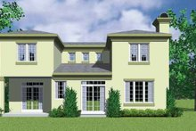 House Blueprint - Contemporary Exterior - Rear Elevation Plan #72-1125