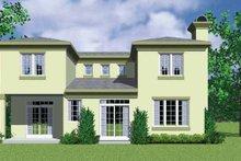 Home Plan - Contemporary Exterior - Rear Elevation Plan #72-1125