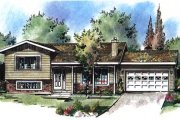 Traditional Style House Plan - 3 Beds 2 Baths 1383 Sq/Ft Plan #18-9069 Exterior - Front Elevation