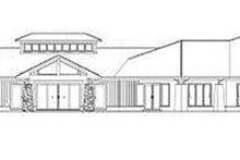 House Plan Design - Contemporary Exterior - Rear Elevation Plan #17-3390