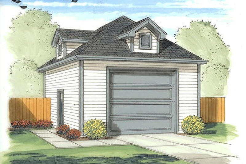 Traditional Exterior - Front Elevation Plan #455-17