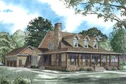 Country Style House Plan - 4 Beds 3 Baths 2180 Sq/Ft Plan #17-2503 Exterior - Front Elevation