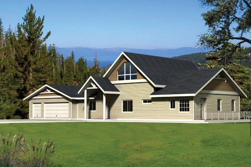 Craftsman Exterior - Front Elevation Plan #117-843 - Houseplans.com