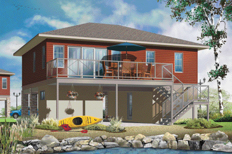 Contemporary Exterior - Rear Elevation Plan #23-2591 - Houseplans.com