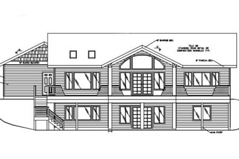 Ranch Exterior - Rear Elevation Plan #117-575 - Houseplans.com