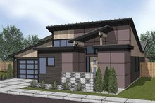House Plan Design - Contemporary Exterior - Front Elevation Plan #569-6