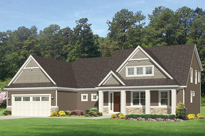 Architectural House Design - Craftsman Exterior - Front Elevation Plan #1010-161