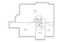 Ranch Floor Plan - Lower Floor Plan Plan #1060-34