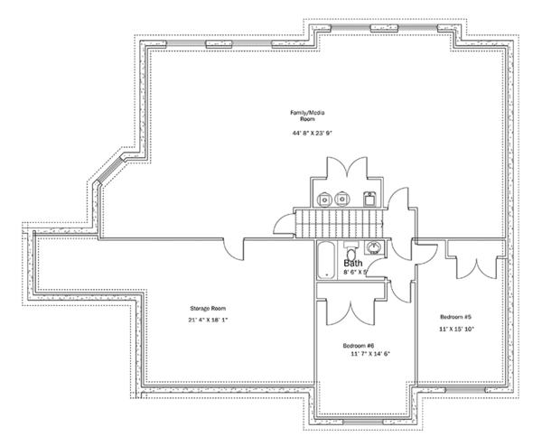 House Plan Design - Ranch Floor Plan - Lower Floor Plan #1060-34
