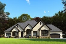 Dream House Plan - European Exterior - Front Elevation Plan #923-160