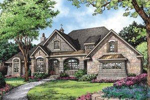 Craftsman Exterior - Front Elevation Plan #929-952