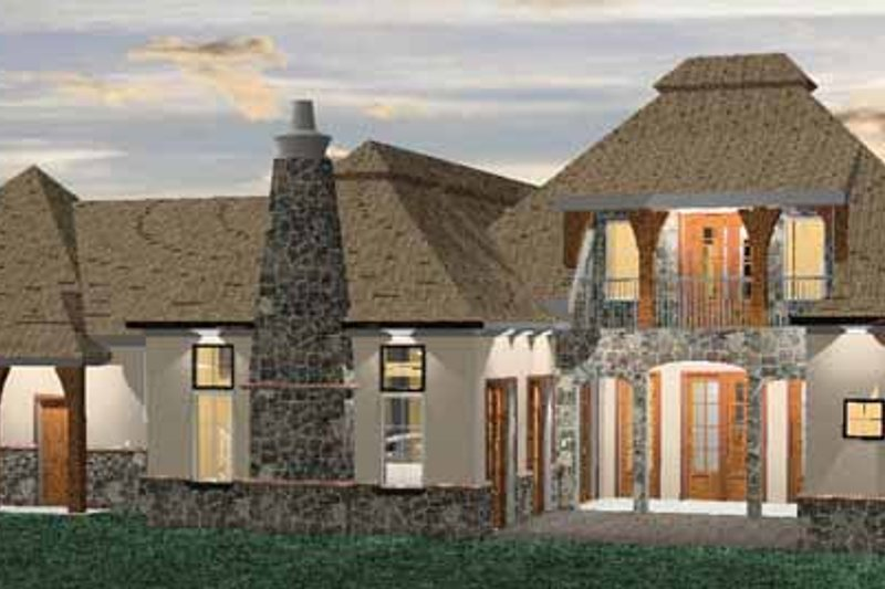 Country Exterior - Rear Elevation Plan #937-6 - Houseplans.com