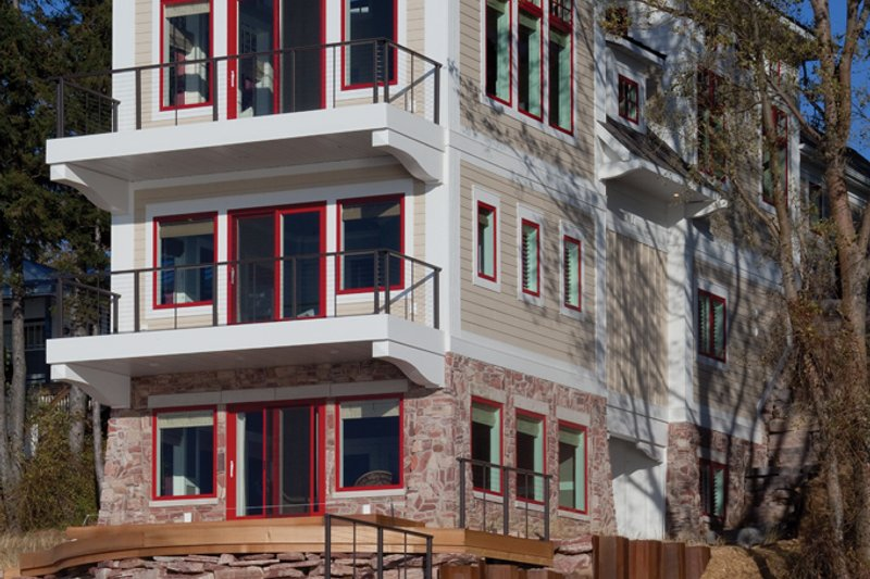 Architectural House Design - Contemporary Exterior - Rear Elevation Plan #928-249