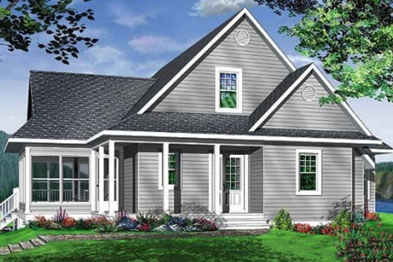 Traditional Style House Plan - 3 Beds 2 Baths 1832 Sq/Ft Plan #23-385 Exterior - Front Elevation