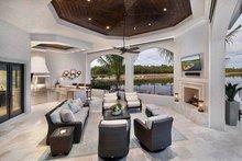 House Plan Design - Mediterranean Exterior - Rear Elevation Plan #1017-166