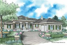 Country Exterior - Front Elevation Plan #930-352