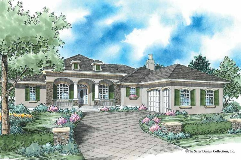 Architectural House Design - Country Exterior - Front Elevation Plan #930-352