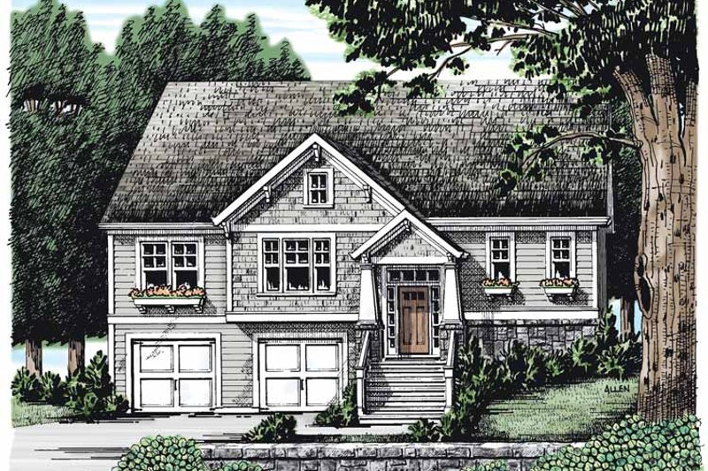 Craftsman Exterior - Front Elevation Plan #927-266
