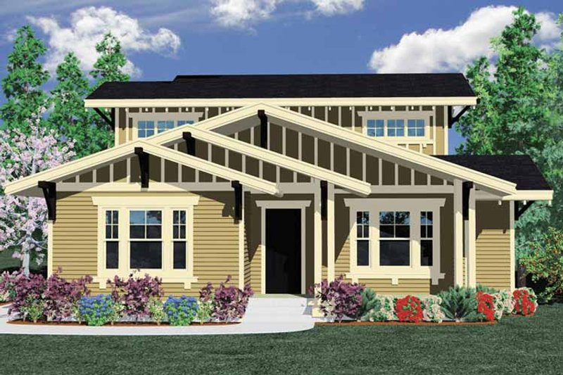 Prairie Exterior - Front Elevation Plan #509-301