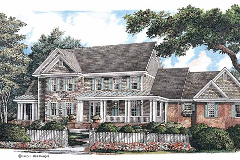 Architectural House Design - Country Exterior - Front Elevation Plan #952-231