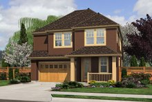 Country Exterior - Front Elevation Plan #48-630