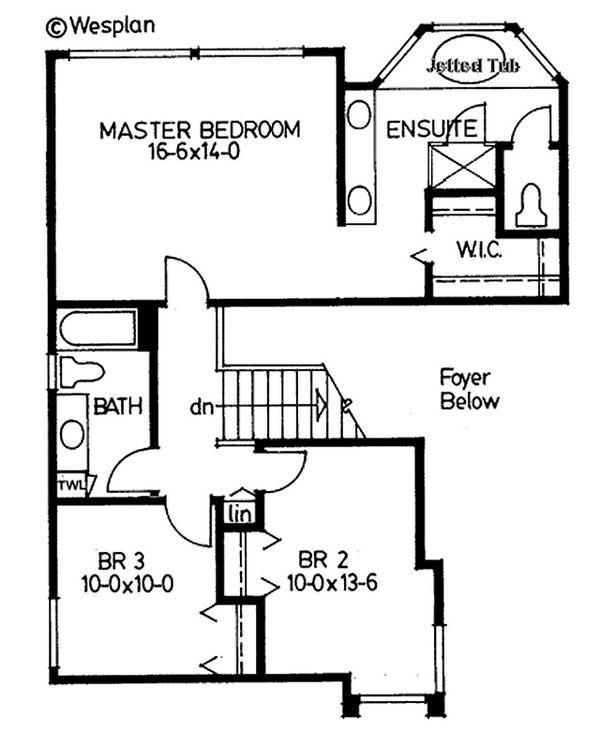 Modern Floor Plan - Upper Floor Plan Plan #126-220
