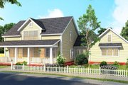 Farmhouse Style House Plan - 4 Beds 3.5 Baths 2408 Sq/Ft Plan #513-2186 Exterior - Front Elevation