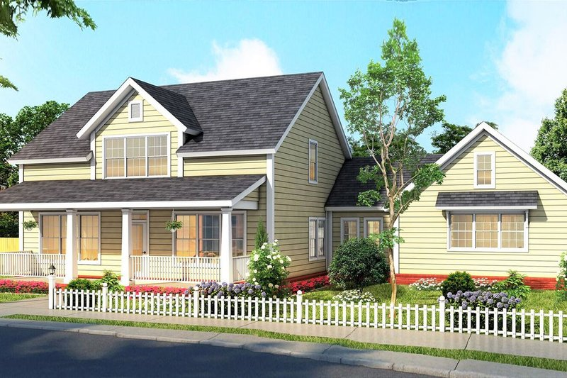 Farmhouse Exterior - Front Elevation Plan #513-2186