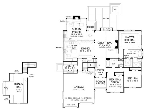 Dream House Plan - Cottage Floor Plan - Main Floor Plan #929-1098