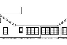 Architectural House Design - Ranch Exterior - Rear Elevation Plan #513-2157