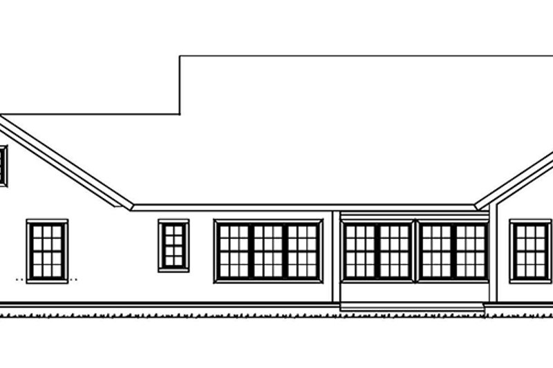 Ranch Exterior - Rear Elevation Plan #513-2157 - Houseplans.com