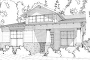 Bungalow Style House Plan - 2 Beds 2 Baths 1251 Sq/Ft Plan #63-295 Exterior - Front Elevation