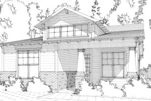Bungalow Exterior - Front Elevation Plan #63-295