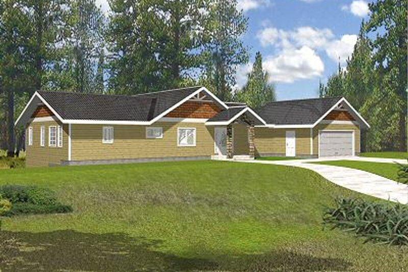 Bungalow Exterior - Front Elevation Plan #117-530 - Houseplans.com